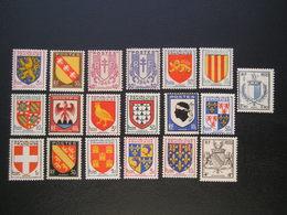Lot De 19 Timbres Armoiries Et Blasons NEUF** - 1941-66 Armoiries Et Blasons
