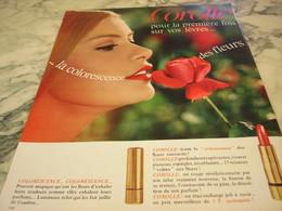 ANCIENNE PUBLICITE ROUGE A LEVRE  COROLLE 1967 - Parfums & Beauté