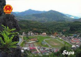1 AK Vietnam * Blick Auf Sa Pa (auch Sapa) Die Hauptstadt Des Gleichnamigen Distrikts - Luftbildaufnahme * - Viêt-Nam