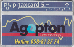 SUISSE - PHONE CARD - °TAXCARD-PRIVÉE *** AGOPTON - PHARMA *** - Svizzera