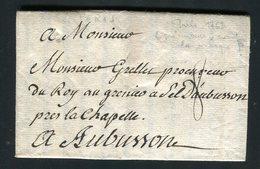 Belle Lettre De Paris Pour Aubusson ( 1763 ) - Postmark Collection (Covers)