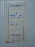 ZA149.17  Savings Stamp Collecting Sheet - Tanulók Takarékpénztára - Old Paper