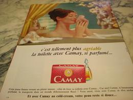 ANCIENNE PUBLICITE SAVON CAMAY 1967 - Parfums & Beauté