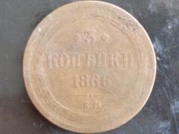 RUSSIE : 3 KOPECK 1866 E.M. - Russie