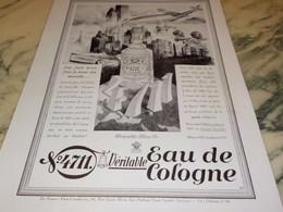 ANCIENNE PUBLICITE EAU DE COLOGNE 4711 3 FOIS LE TOUR DU MONDE  1931 - Parfums & Beauté