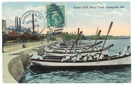 Cpa Etats-Unis / Usa - Annapolis - Cutter Drill, Navy Yard ( Marins ) - Annapolis – Naval Academy