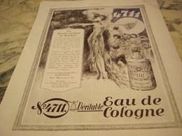 ANCIENNE PUBLICITE EAU DE COLOGNE  4711 LA BEAUTE CONDUIT AU BONHEUR 1930 - Parfums & Beauté