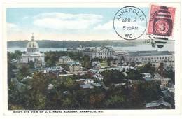 Cpa Etats-Unis / Usa - Annapolis - Bird's Eye View Of U.S. Naval Academy - Annapolis – Naval Academy