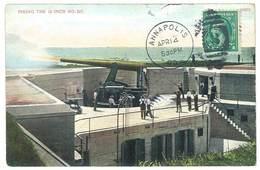 Cpa Etats-Unis / Usa - Annapolis - Firing The 10 Inch N°517 - Annapolis – Naval Academy