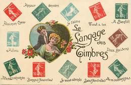 - Ref-B148 -  Timbres - Langage Du Timbre - Langages - Philathelie - Carte Bon Etat - - Timbres (représentations)