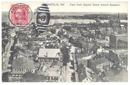 Cpa Etats-Unis / Usa - Annapolis - View From Capitol Dome Toward Eastport - Annapolis