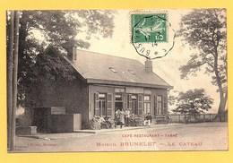 """Carte Postale En Noir & Blanc """" Maison BRUNELET Café-restaurant-tabac """" à LE CATEAU - Le Cateau"""