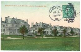 Cpa Etats-Unis / Usa - Annapolis - Sampson's Row, U.S. Naval Academy - Annapolis