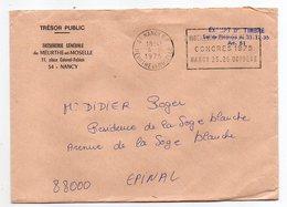1975--Lettre Trésor Public NANCY-54 Pour EPINAL-88--flamme Temporaire Ingénieurs Arts Et Métiers CONGRES - Cartas Civiles En Franquicia