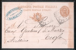 BARLETTA - 1897 - CARTOLINA COMMERCIALE - TIMBRO FRANCESCO CARDINALE - Negozi
