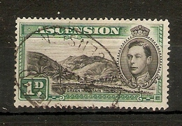 ASCENSION 1938 1d GREEN MOUNTAIN SG 39 FINE USED Cat £13 - Ascension