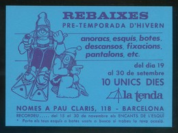 Barcelona. *La Tenda* Circulada 1987 - Tiendas