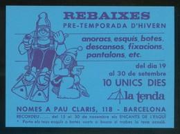 Barcelona. Deportes *La Tenda* Circulada 1987 - Tiendas