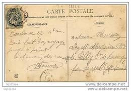 """Cachet Convoyeur """"TOULOUSE A CARCASSONNE 1905"""" S 5c BLANC Sur CP Toulouse - Postmark Collection (Covers)"""