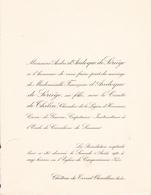 CHATEAU Du TERRAL OUVEILLAN AUDE - FAIRE PART DE MARIAGE DE Melle FRANCOISE D ANDOQUE DE SERIEGE(1933) - Mariage