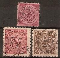 INDIA - HYDERABAD 1947 - 1949 SG 58/60 FINE USED Cat £14 - Hyderabad
