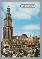 NL.- GRONINGEN. Martinitoren. Grote Markt.. - Kerken En Kathedralen