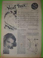 2 Partitions Illustrées Par Jean BELLUS (NOUS DEUX , Line Renaud 1946, SI BIEN, Marianne Michel, ) - Partitions Musicales Anciennes