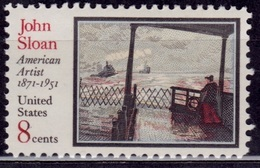 United States, 1971, American Artist - John Sloan, 8c, Sc#1433, MNH - Unused Stamps