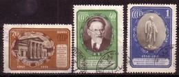 RUSSIA & USSR - 1951 - 5 Ans De La Mort De Michail Kalinin - 3v Obl. Mi 1570/72 - 1570 Ll Qual. - 1923-1991 URSS