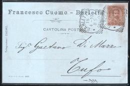 BARLETTA - 1897 - CARTOLINA COMMERCIALE - FRANCESCO CUOMO - Negozi