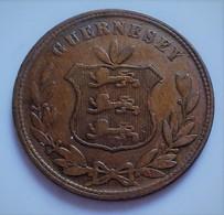 Monnaie, Guernsey, 8 Doubles, 1864, Heaton, Birmingham   (B4 - 11) - Guernesey