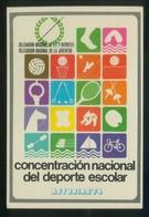 Asturias. *Concentración Nacional Del Deporte Escolar 1974* Dep. Legal M. 23355-1974. Nueva. - Postales