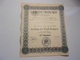 LA REVUE FRANCAISE Hebdomadaire - Acciones & Títulos
