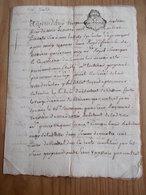 CACHET GENERALITE BORDEAUX 1757  Acte DORDOGNE 1766 SARLAT Sieur Gueyraud Procureur Au Présidial - Cachets Généralité