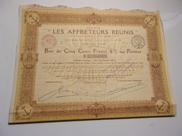 LES AFFRETEURS REUNIS  (1919) - Acciones & Títulos