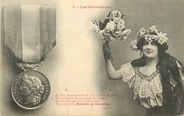 -ref-B137- Illustrateurs - Illustrateurs Bergeret - Les Decorations N°7 - Medaille De Sauvetage - Medailles - - Bergeret
