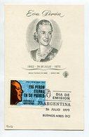 EVA PERON EVITA PERONISMO TARJETA OBLITERES DIA DE EMISION 1973 BS AS ARGENTINA FDC -LILHU - Berühmt Frauen