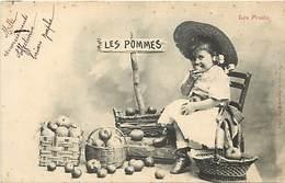 -ref-B134- Illustrateurs - Illustrateurs Bergeret - Les Fruits - Les Pommes - Enfant - Enfants - Carte Bon Etat - - Bergeret