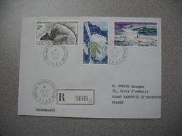 TAAF Lettre Recommandé N° 5069 Port-aux-Français Kerguelen Pour La France N° PA 65 / PA 67 / PA 69 Du 26/12/1981 - Luftpost
