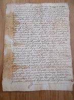 CACHET GENERALITE BORDEAUX 1745  Acte DORDOGNE 1745 Cession Sur Tayac Le Bugue Et Environs - Algemene Zegels