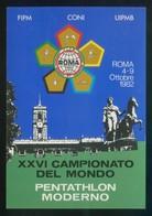Roma. *Pentathlon Moderno - XXVI Campionato Del Mondo 1982* Nueva. - Postales