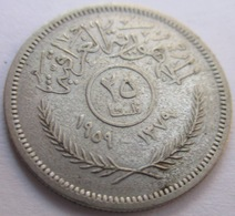 IRAQ 25 FILS 1959 ARGENTO KM# 122 - Iraq