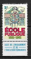 FRANCE   -   1981  .  Vignette ** .  Ecole Publique.  Ligue De L' Enseignement Et De L' éducation Permanente. - Erinnophilie