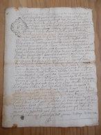 CACHET GENERALITE BORDEAUX 1739  Acte DORDOGNE 1744 Commune Saint Sulpice Du Bugue La Peyrière Famille Chelibac - Cachets Généralité