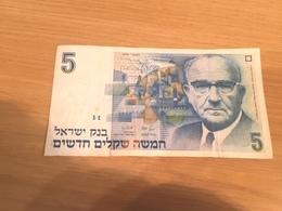 Un Billet De  5 New Sheqalim  Israël   1987 - Israel