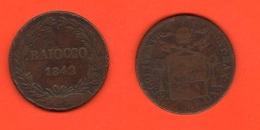 Roma 1 Baiocco 1842 Zecca Bologna Papa Gregorio XVI° Anno XII° Vatikan State - Vatican