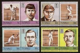 TUVALU 1984 - Leaders Of The World / CRICKETPLAYER - SALE! 4 Pairs Mi 256-263 MNH ** Cv€5,00 V936 - Tuvalu