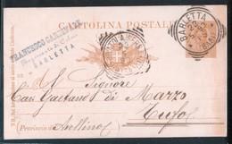 BARLETTA - 1893 - CARTOLINA COMMERCIALE - TIMBRO FRANCESCO CARDINALE - Negozi