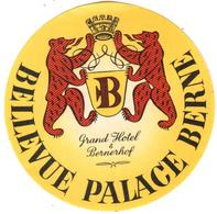 ETIQUETA DE HOTEL  - GRAND HOTEL BELLEVUE PALACE  .BERNE  -SUIZA - Etiquetas De Hotel