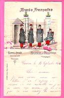 MILITARIA LETTRE DE TARASCON 1914 ARMEE FRANCAISE  REGIMENT INFANTERIE COMPAGNIE  ENTETE COLORISEE Manuscrit - Documenti Storici